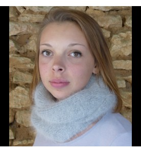Snood 80% angora Gris clair