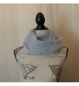Snood 80% angora Gris chiné