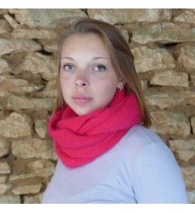 Snood 80% angora  Groseille