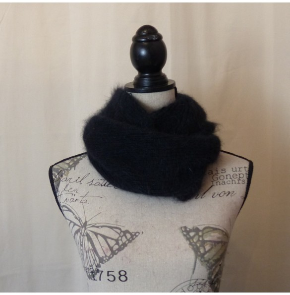 Snood 80% angora Noir