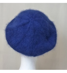 Béret Angora Bleu Nuit vue arrière