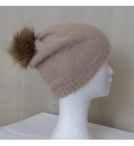 Bonnet Angora Beige Rosé